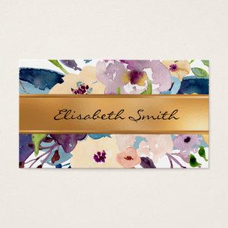 Mit Blumen, Blumen-Imitat-Goldfolie Visitenkarte
