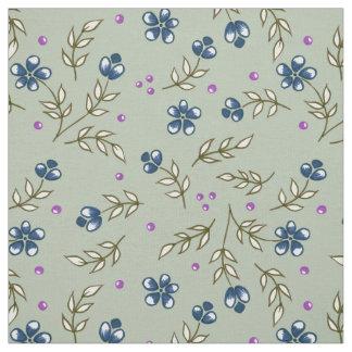 mit Blumen im Blau Stoff