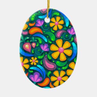mit Blumen Keramik Ornament