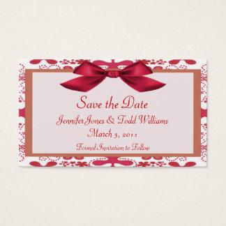 Mit Blumen Save the Date Visitenkarte