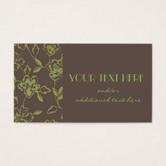 Mit Blumen Visitenkarte