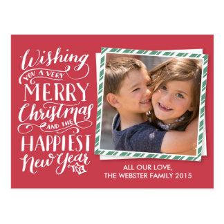 Mit Buchstaben gekennzeichnete Weihnachtssammlung Postkarte