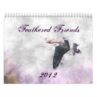 Mit Federn versehener Kalender der Freund-2012