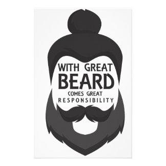 Mit großem Bart kommt großes Verantwortungs-Shirt Briefpapier