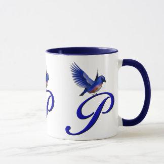 Mit Monogramm elegante Drossel-Tasse der Tasse