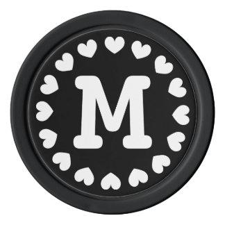 Mit Monogramm Gastgeschenk Hochzeits-Pokerchip | Poker Chip Set