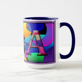 "Mit Monogramm Kaffee-Tasse ""V"" u. ""A"" Tasse"
