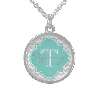 Mit Monogramm Sterling Silberkette