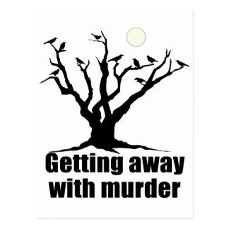 Mit Mord weg erhalten Postkarte