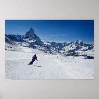 Mit Mt. Matterhorn in Zermatt Ski fahren, die Poster