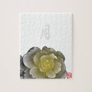 Mit Tinte geschwärzte Blumenblätter eines Jahres - Puzzle