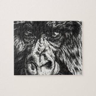 Mit Tinte geschwärztes Gorilla-Puzzlespiel Puzzle
