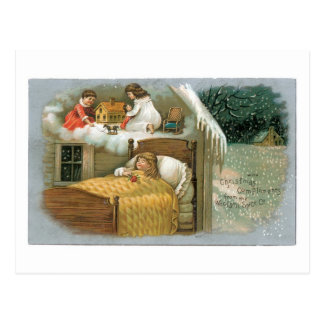 Mit Weihnachtskomplimenten Postkarte