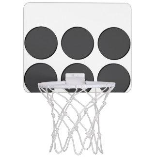 Mit Ziegeln gedeckte dunkelgraue Punkte Mini Basketball Netz