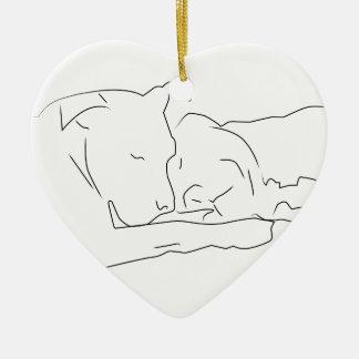 Mitfühlend in der Liebe Keramik Herz-Ornament