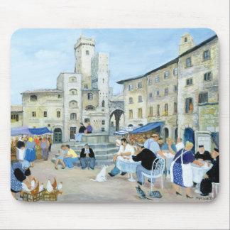 Mittag in einem Marktplatz Toskana Mauspads