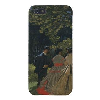 Mittagessen auf dem Gras, links Platte (1865) iPhone 5 Etui