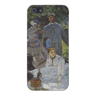 Mittagessen auf dem Gras, zentrale Platte (1865) iPhone 5 Hüllen