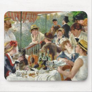 Mittagessen des Bootfahrt-Party Vintages Renoir Mousepads
