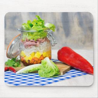 Mittagessen in einem Glas Mauspad