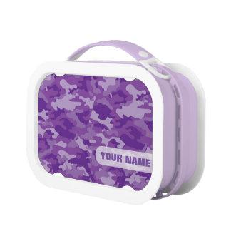 Mittagessen-Kasten der Armee-Tarnungs-(lila Farbe) Brotdose