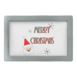 Mitte des Jahrhunderts Weihnachtsmann der frohen Rechteckige Gürtelschnallen