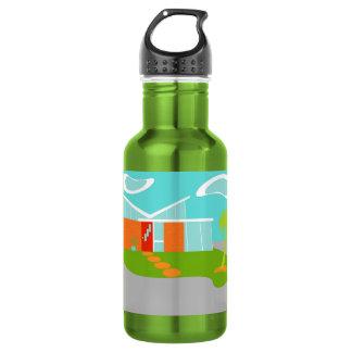 Mitte- des Jahrhundertsmoderne Trinkflasche
