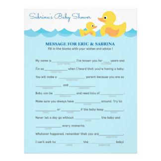 Mitteilung, damit die Eltern Gummienten-Babyparty Flyer