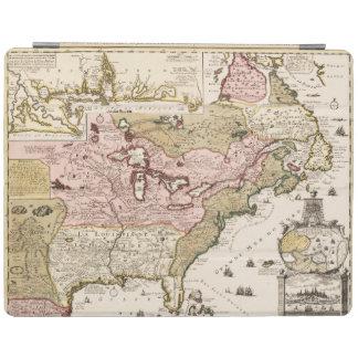 Mittelalterliche französische Karte Amerika iPad Hülle