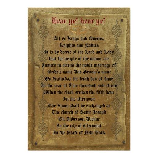 Mittelalterliche Hochzeit 12,7 X 17,8 Cm Einladungskarte  Zazzle