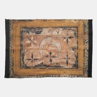 mittelalterliche hölzerne Malereikunst Vintages Handtücher