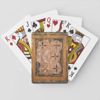 mittelalterliche hölzerne Malereikunst Vintages Pokerdeck