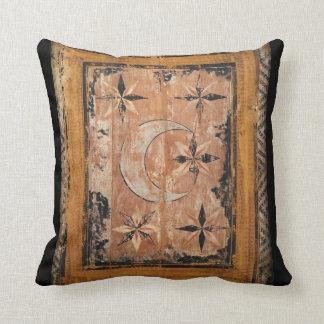 mittelalterliche hölzerne Malereikunst Vintages Zierkissen