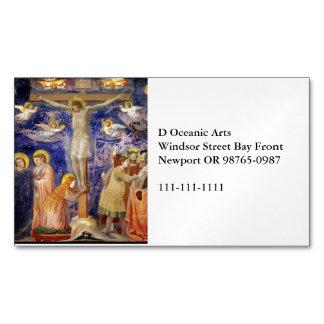 Mittelalterliche Karfreitags-Szene Visitenkartenmagnet