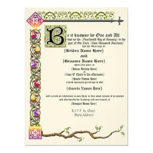 Mittelalterliche Rolle Hochzeits Einladung Einladung