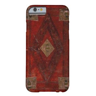 Mittelalterlicher gravierter roter lederner barely there iPhone 6 hülle