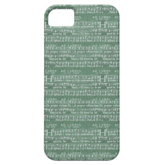Mittelalterlicher Musik-Manuskript iPhone 5 Fall iPhone 5 Etui