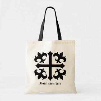 Mittelalterliches königliches symbolisches Kreuz u Budget Stoffbeutel