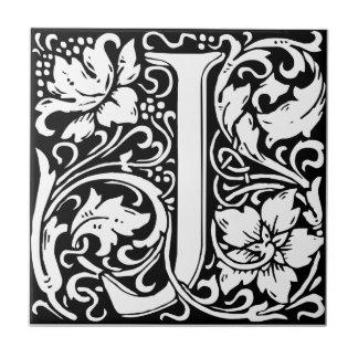 Mittelalterliches Monogramm-Vintage Initiale des Fliese