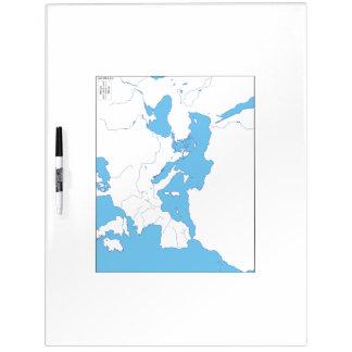 Mittelmeerkarte Whiteboard