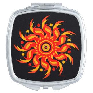 Mitternachtskompakter Spiegel Sun Taschenspiegel