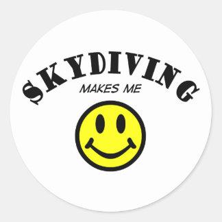 MMS: Skydiving Runder Aufkleber