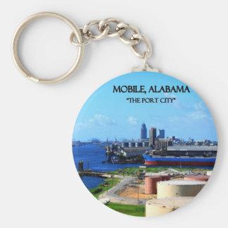 MOBILE, ALABAMA - die Hafenstadt Standard Runder Schlüsselanhänger