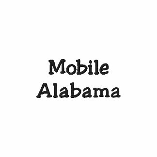 Mobiles Alabama gesticktes Polo-Shirt!!! Bestickte Polos