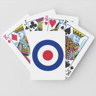 MOD blaues Rot-und weißesspielendes Kartenstapeles Bicycle Spielkarten