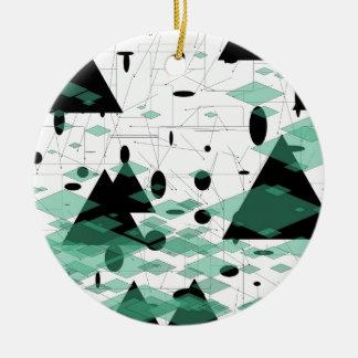 Mod Christmas Triangletree snowflakes  SIRAdesign Keramik Ornament