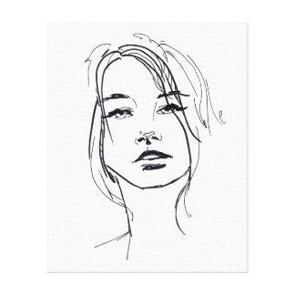 Mode-Gesichts-Illustration Gespannte Galeriedrucke