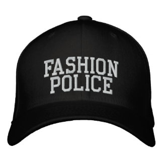 Mode-Polizei Bestickte Baseballkappe