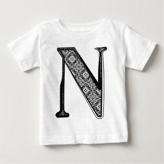 Mode-Schriftart, Buchstabe N Baby T-shirt