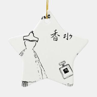 Mode und Parfümflasche Keramik Ornament